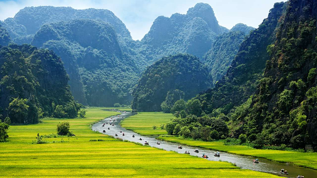 Boats on the River, Vietnam