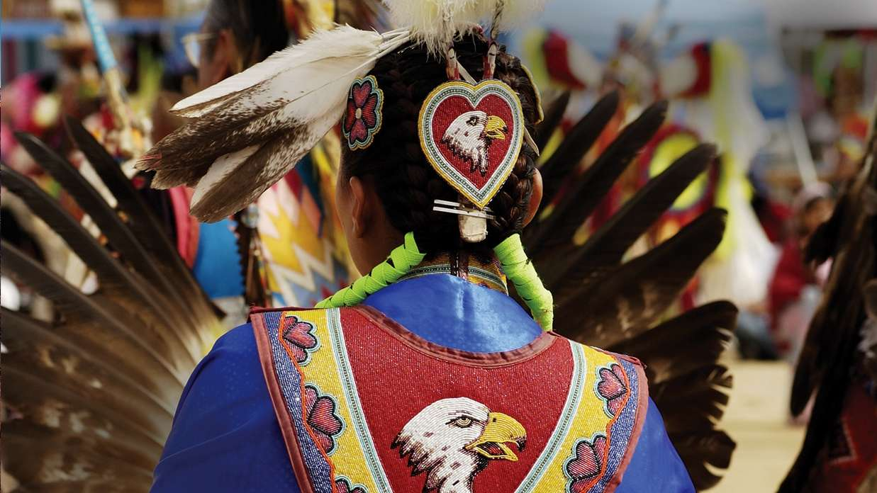 Native American Indian dancer,  Arizona, USA