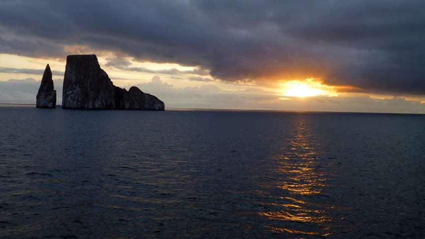 Kicker Rock sunset, Galapagos Islands