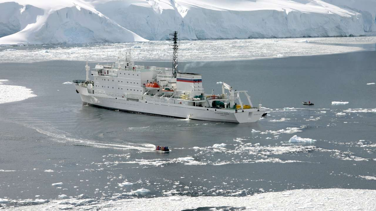 Akademik Ioffe, View from Above, Canadian Arctic