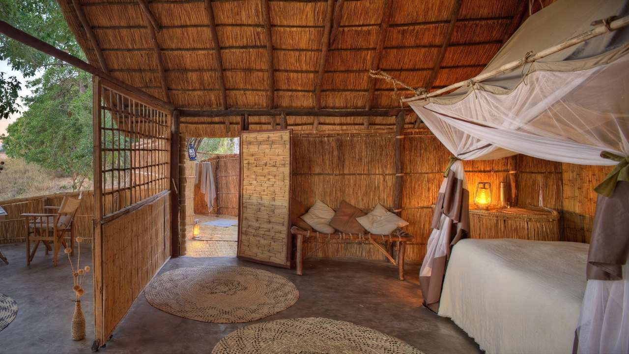 Double Room, Luwi Bush Camp, South Luangwa, Zambia