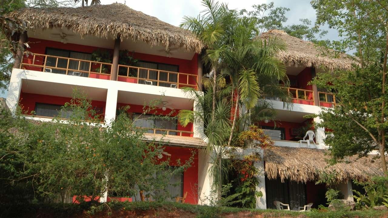 Exterior Front View, Camino Real Tikal, Lake Peten Itza, Guatemala