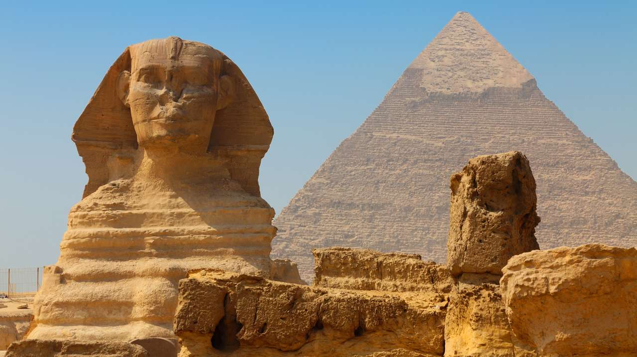 The Sphinx and Pyramid of Khafre, Egypt