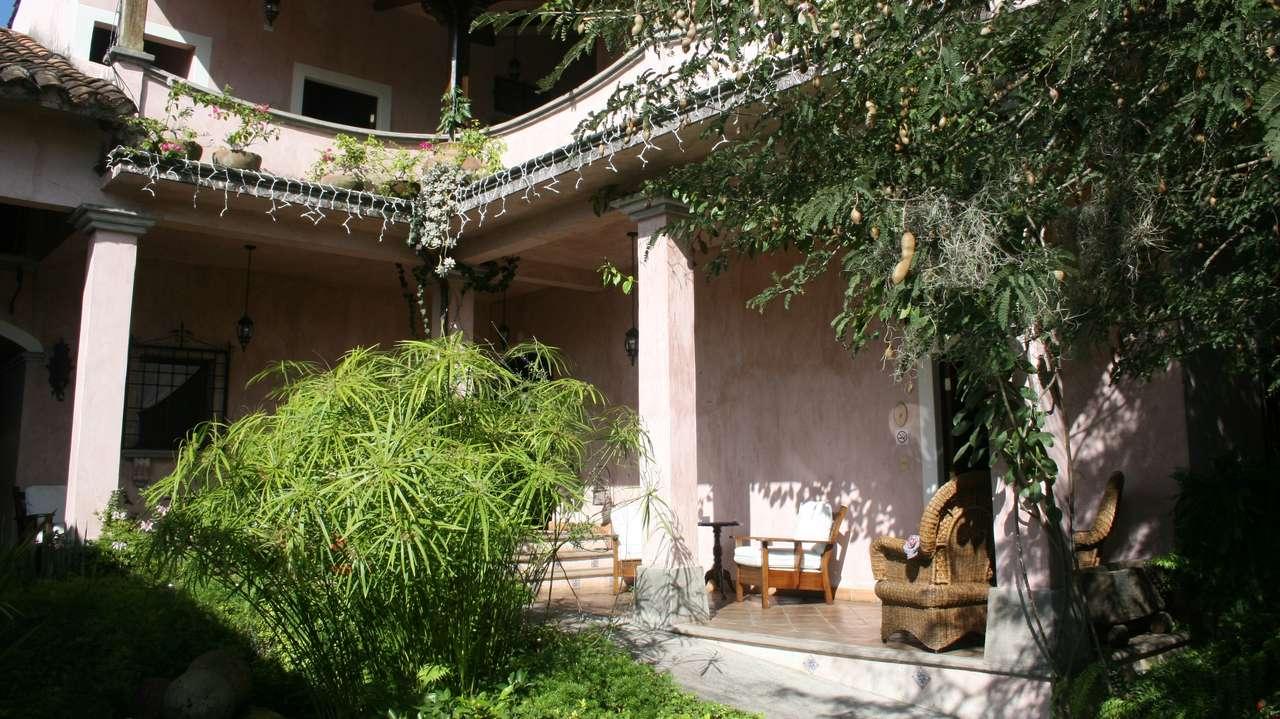 Exterior Front View, La Casa Rosada, Copan, Honduras