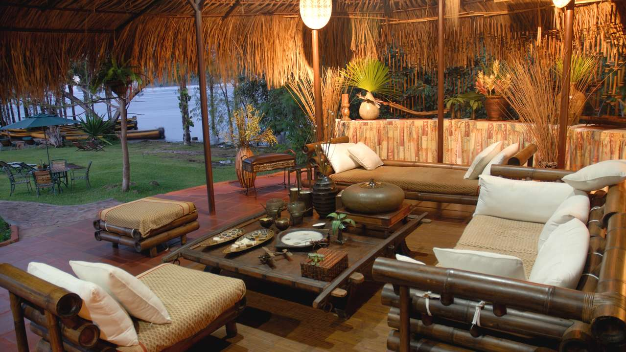 Lounge Area, Waku Lodge, Canaima, Venezuela