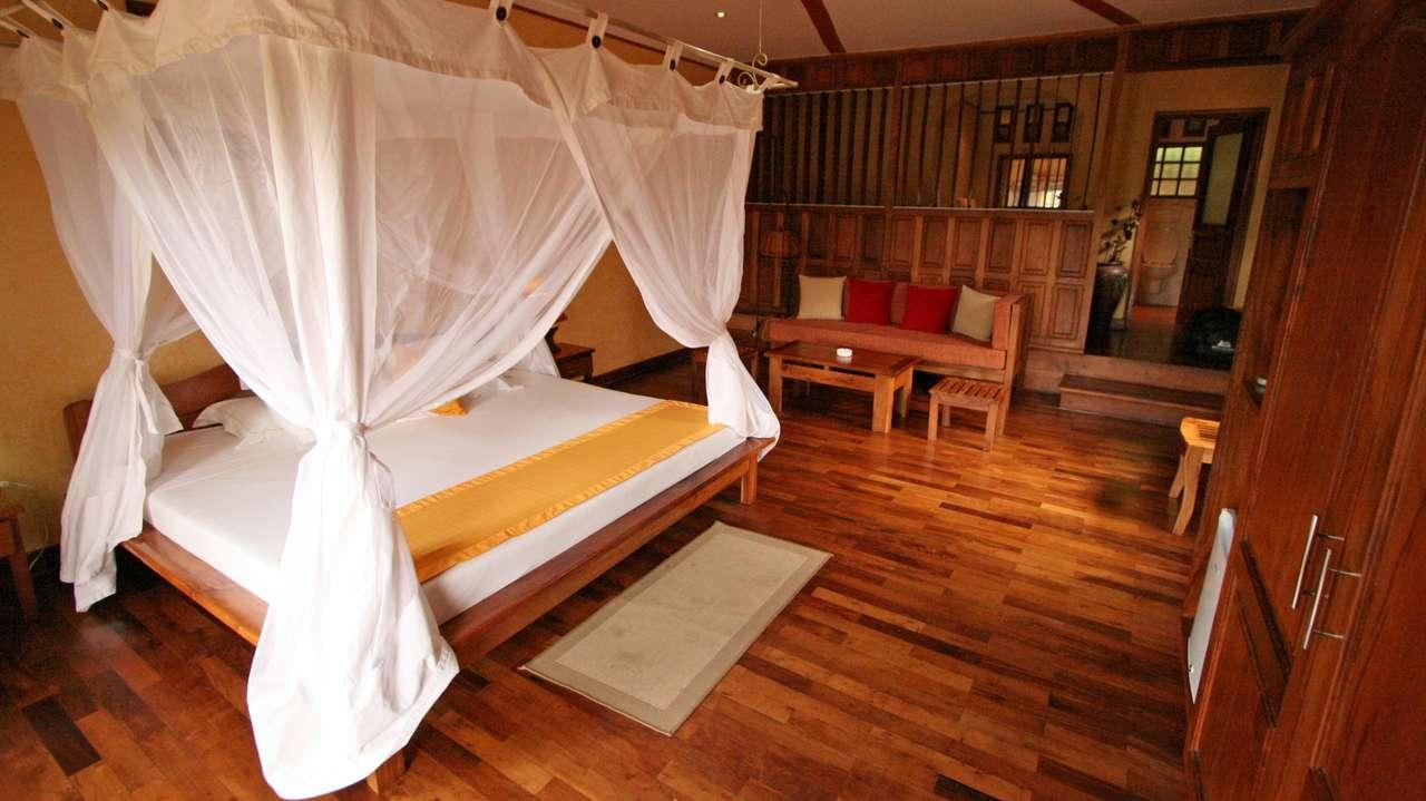 Interior Double Room, Andasibe Hotel, Andasibe, Madagascar