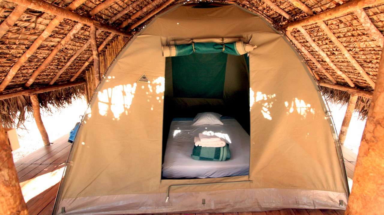 Tent, Camp des Amoureux, Kirindy, Madagascar