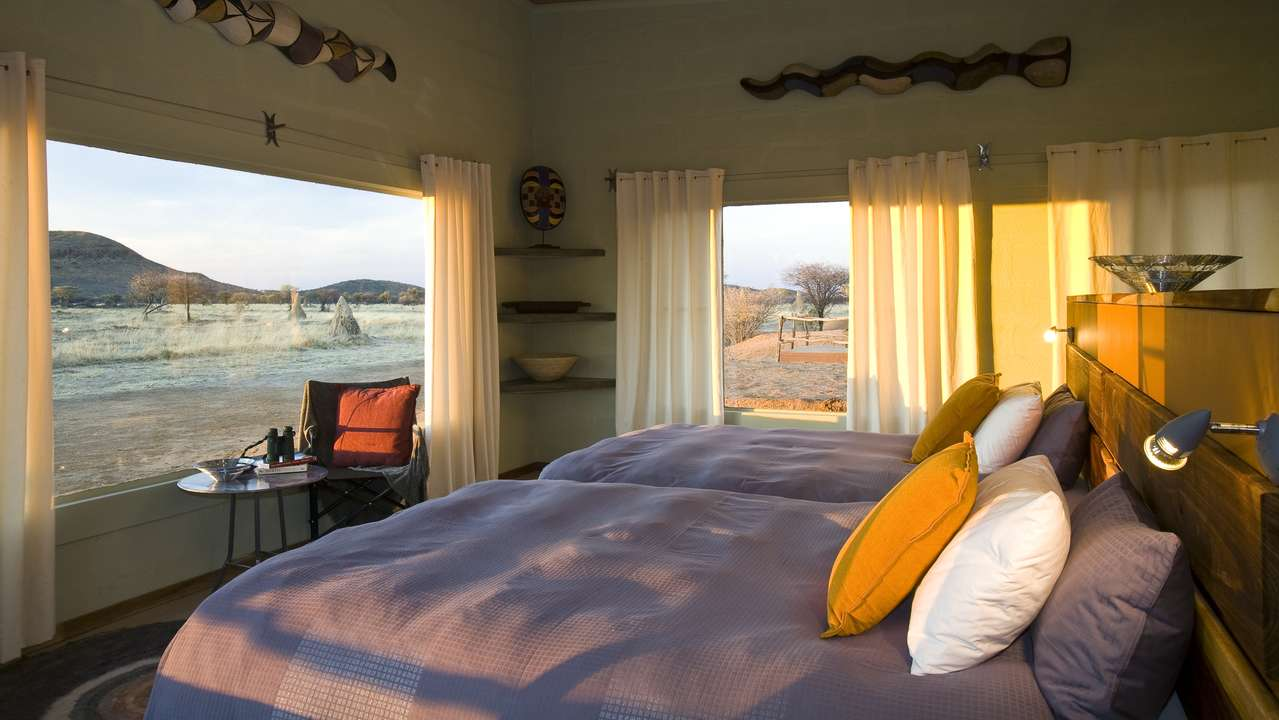 Interior Room View, Okonjima Lodge, Otjiwarongo, Namibia