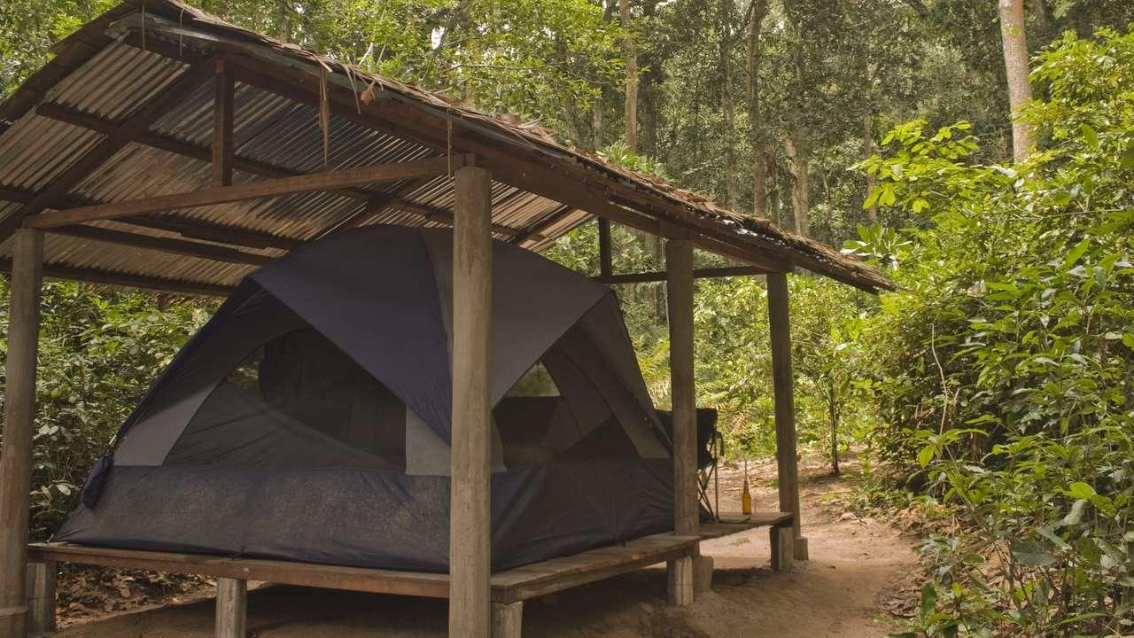 Exterior of Tent, Mondika Camp, Ndoki-Nouabalé National Park, Congo