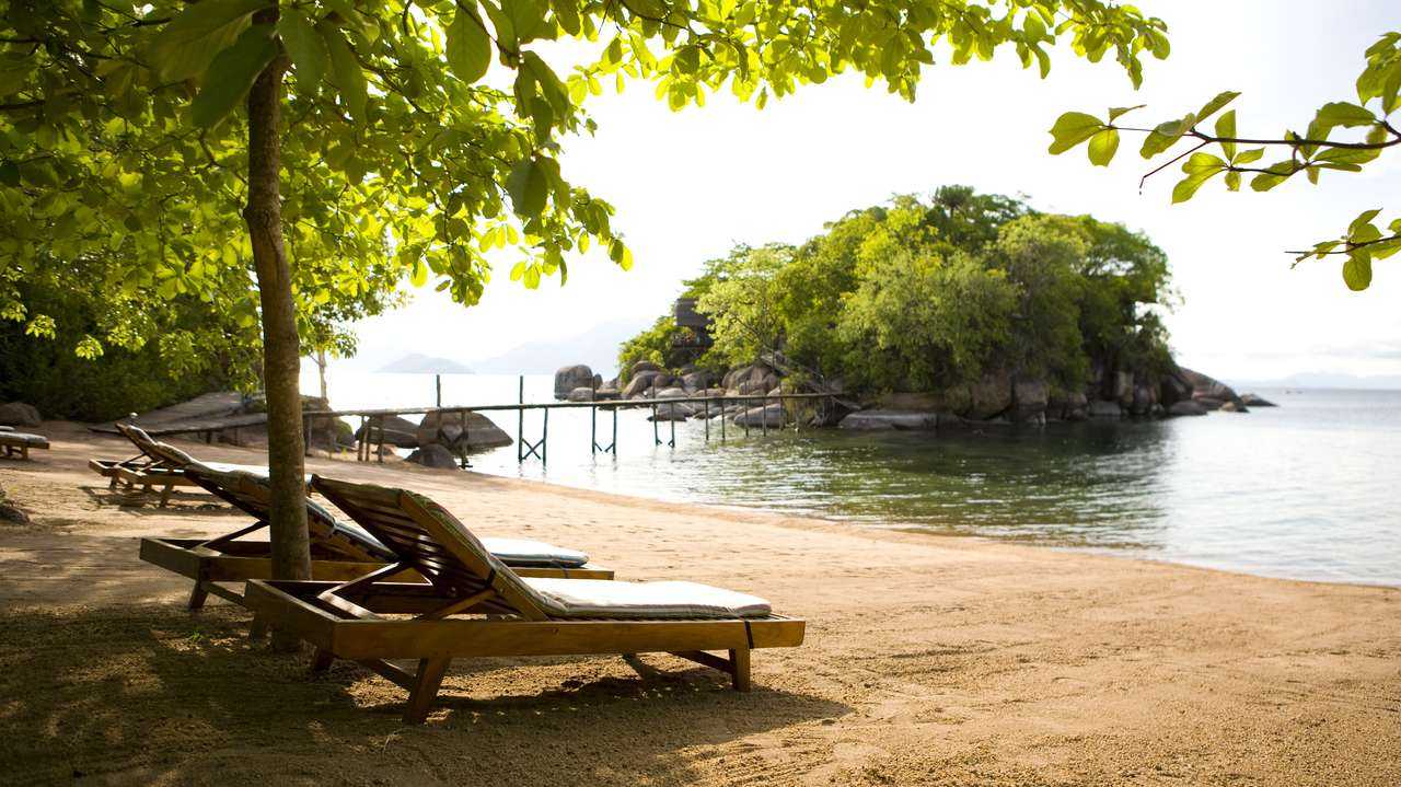Beach, Mumbo Island, South Malawi, Malawi