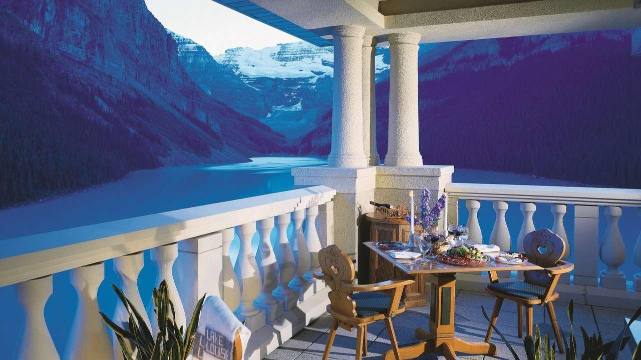Eating Area, Fairmont Chateau Lake Louise, Lake Louise, Canada
