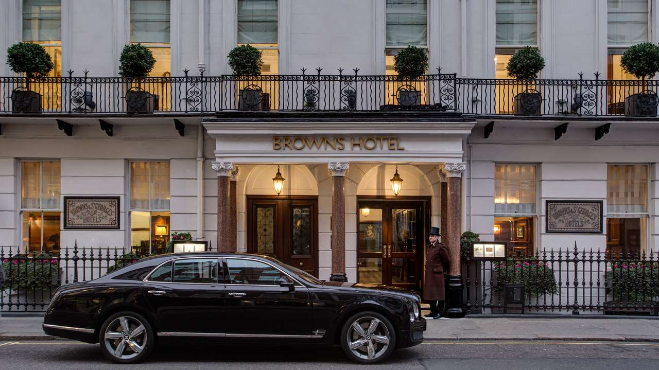 Front, Brown's Hotel, London, United Kingdom